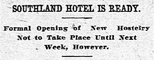 Headline published in The Dallas Morning News on Oct. 12, 1907.