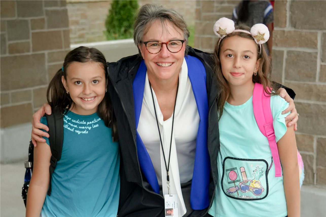 Prosper ISD's Furr Elementary principal Cindy Zukowski welcomes students every morning with a smile.