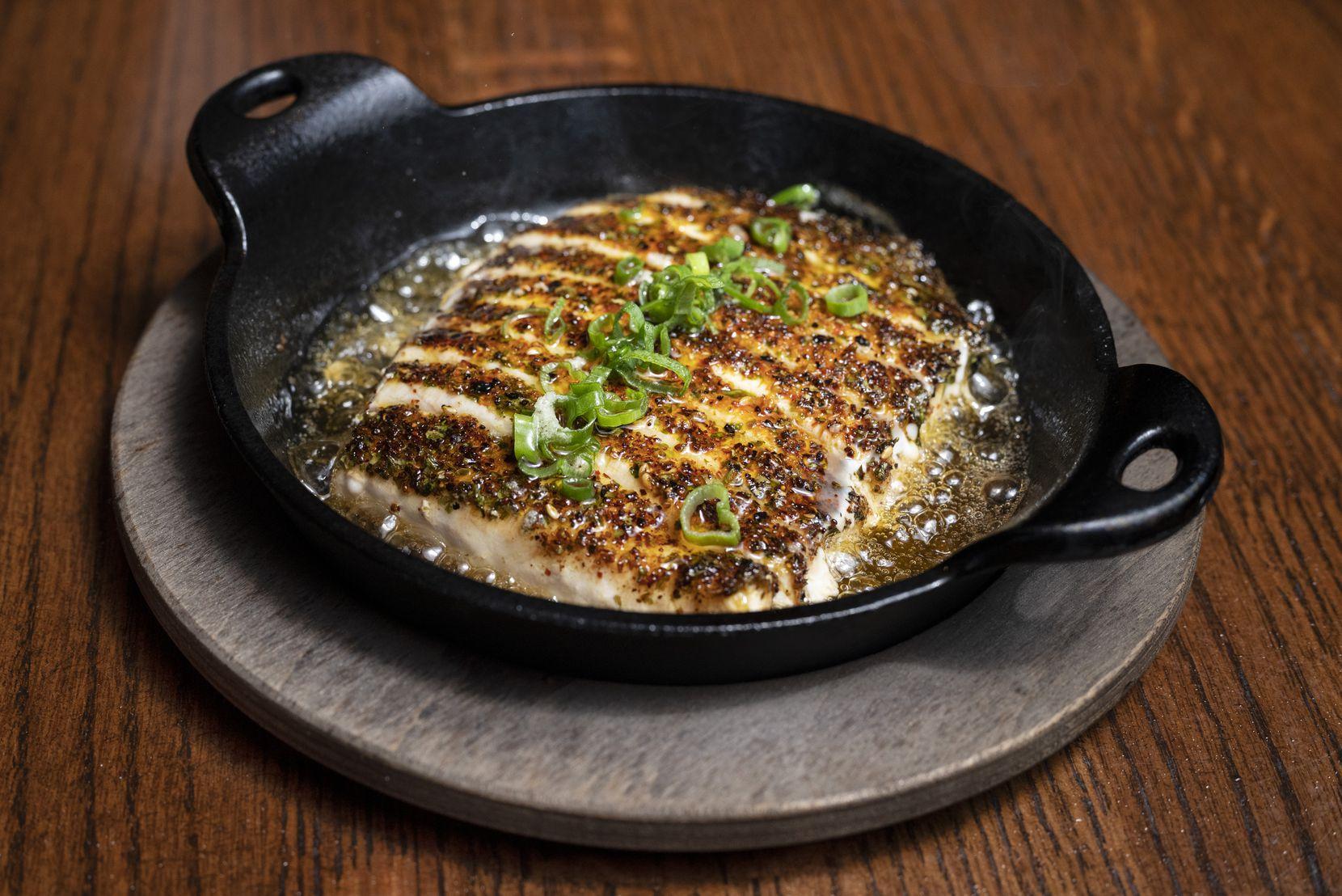 Cast Iron Swordfish with ginger, lemongrass and garlic butter from Shinsei restaurant