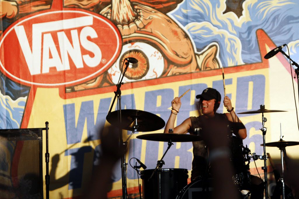 Kenneth Downey of the band Too Close To Touch performs at the Vans Warped Tour, on Friday, June 24, 2016 at Gexa Energy Pavilion in Dallas. Ben Torres/Special Contributor