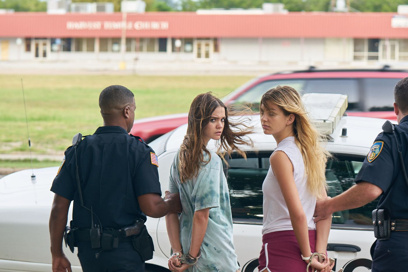 A scene from the film Never Goin' Back, written and directed by Dallas' Augustine Frizzell, starring Maia Mitchell (left) as Angela and Camila Morrone as Jessie.