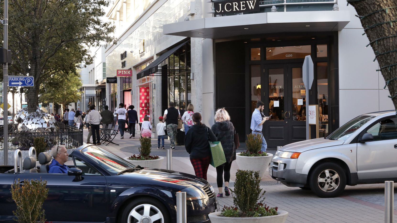 Shoppers at Legacy West in Plano.