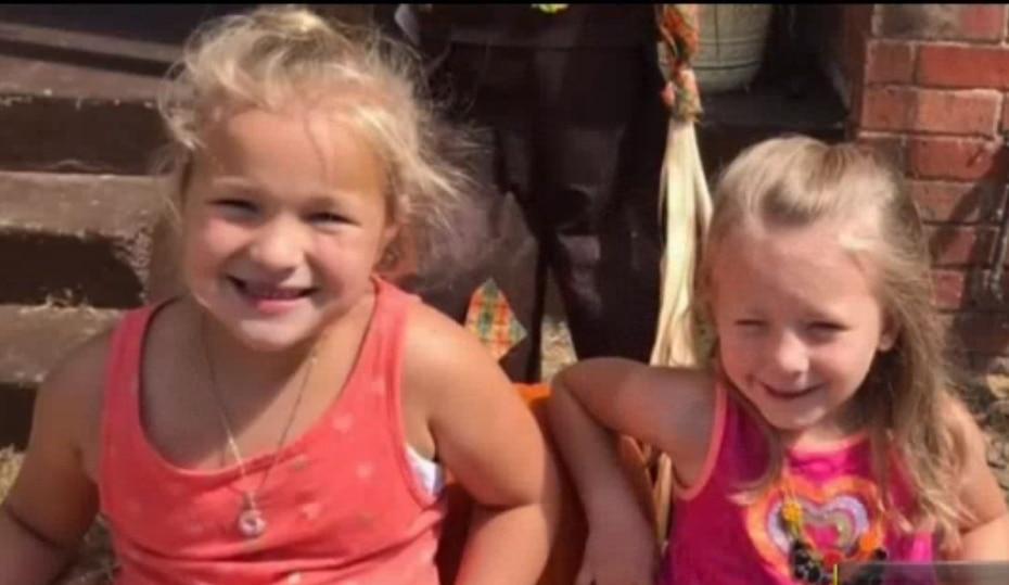 Kaylee, 7, (left) and Kenlie