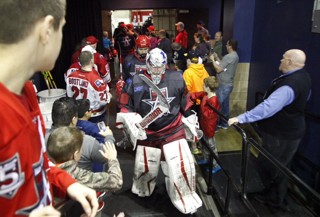 Goal keeper Riley Gill comes out of the locker room to take the ice in this 2016 file photo. (Stewart F. House/Special Contributor)