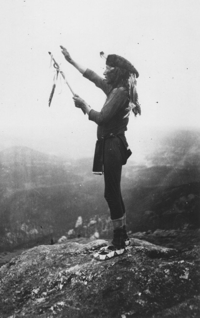 Black Elk prays to the Grandfathers atop Harney Peak in the Black Hills, a scene described at the end of Black Elk Speaks. From  Black Elk: The Life of an American Visionary,  by Joe Jackson.