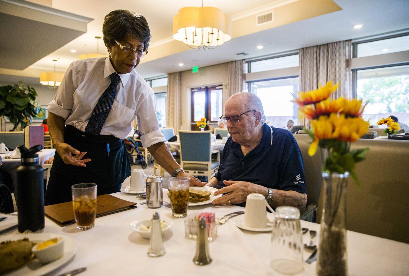 Bob Stiegler is served his favorite meal — a Reuben sandwich.