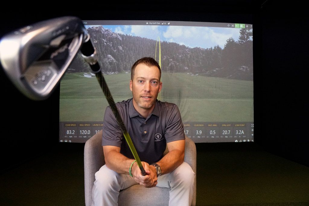 Club Fitter Dustin Holcomb at Tru Spec Golf in Dallas, Texas on Friday, April 19, 2019. (Lawrence Jenkins/Special Contributor)