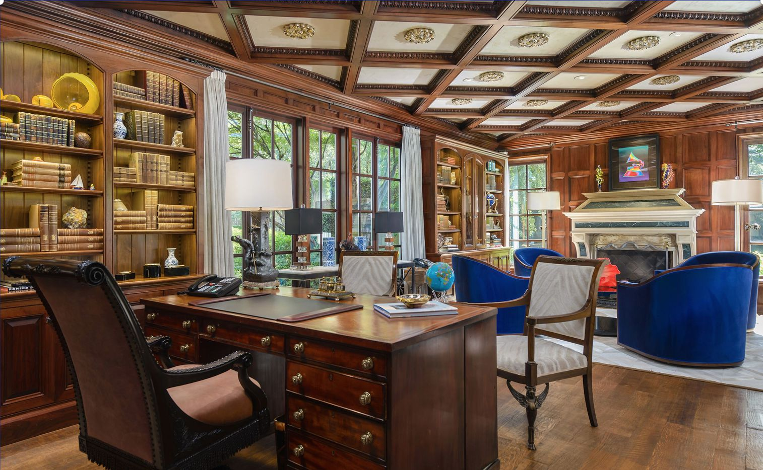 The Volk Estates mansion has almost 13,000 square feet of living space.