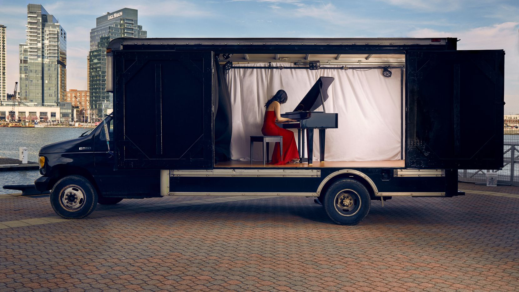 The Concert Truck, founded in 2016 by concert pianists Susan Zhang and Nick Luby, is a mobile concert stage that brings classical chamber music directly to communities.