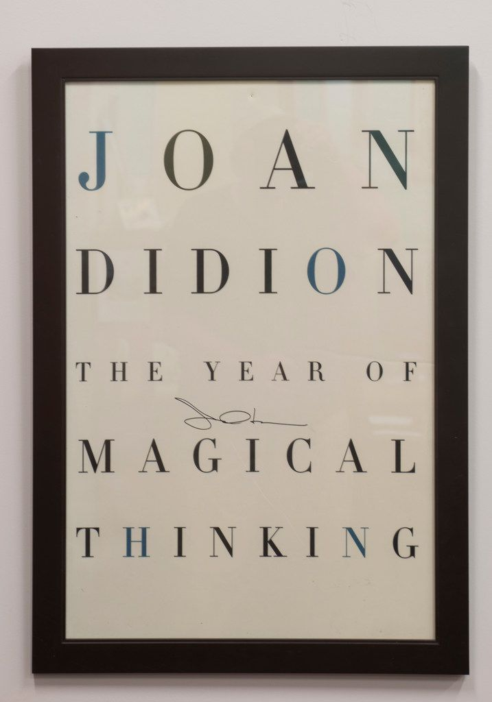 A signed Joan Didion poster at the Writer's Garret.