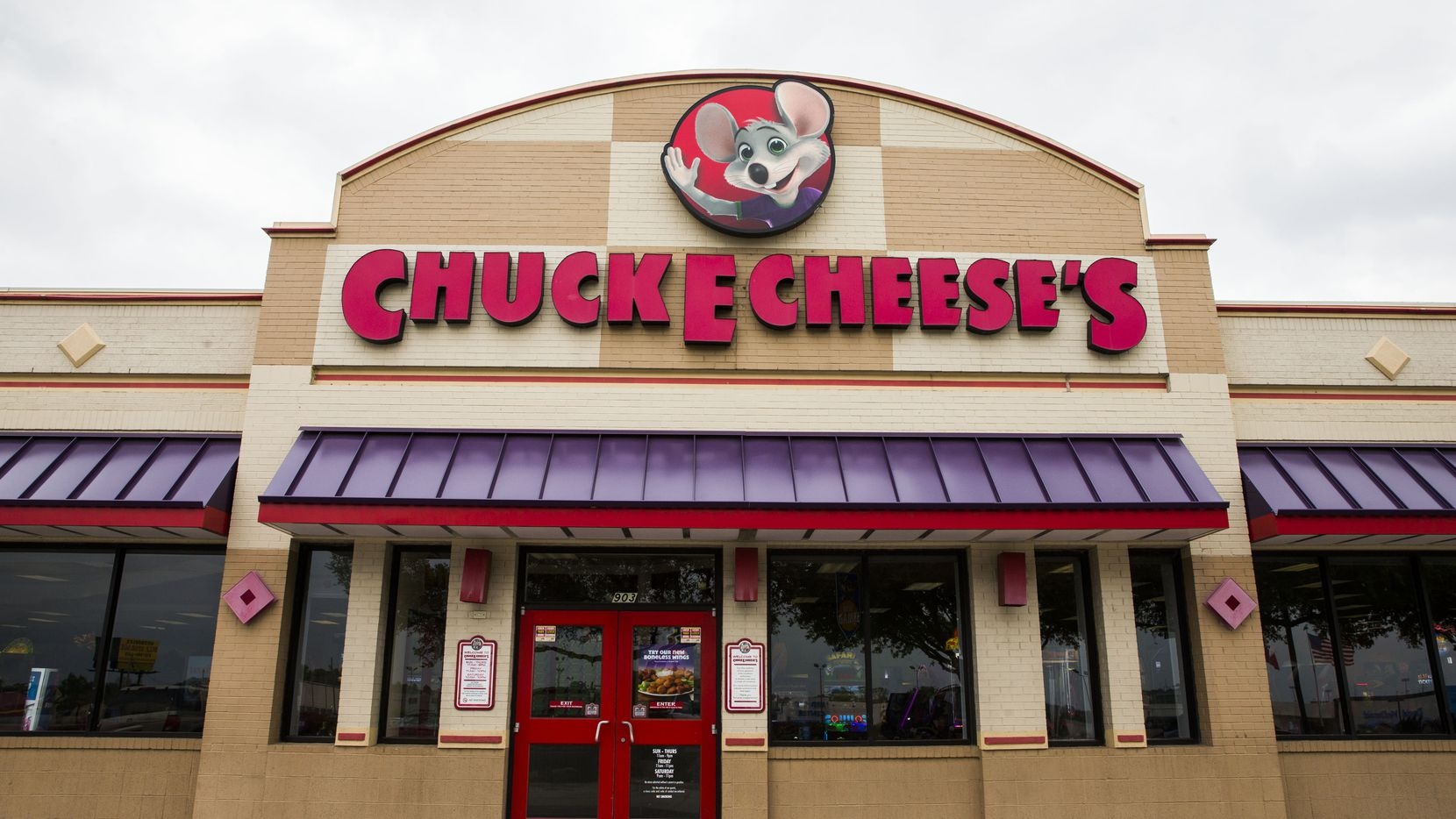 The exterior of Chuck E Cheese on Wednesday, April 8, 2015 in Irving, Texas.
