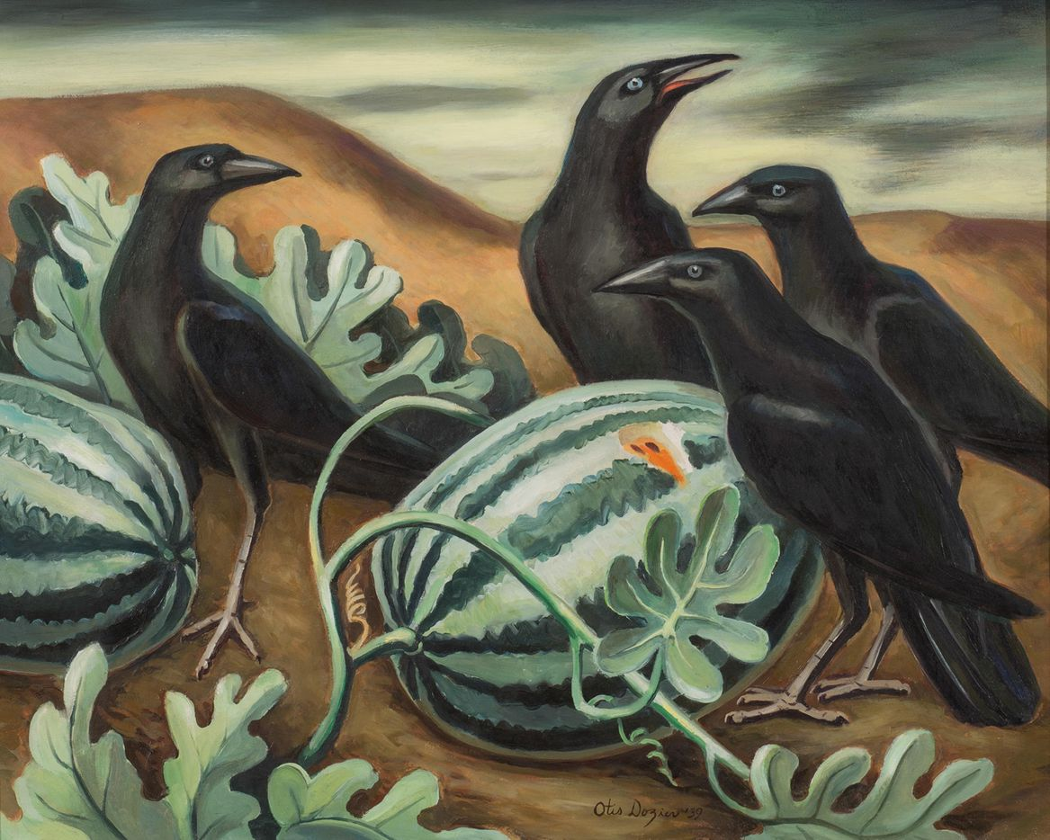 """Otis Dozier,  Watermelons and Crows,"""" 1939"""