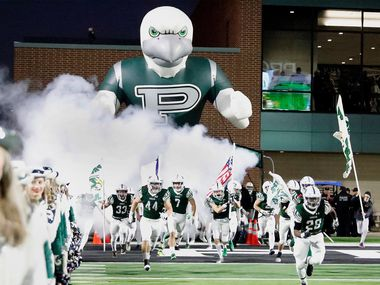Prosper High School takes the field before kickoff as Prosper High School hosted Allen High School in a District 9-6A football game at Children's Health Stadium in Prosper on Friday night, Novembrer 1, 2019.