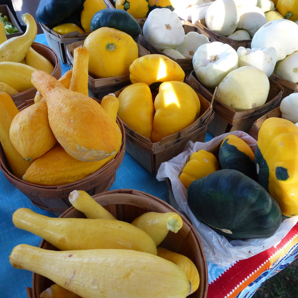 La Esperanza Farm from Nevada, Texas, grows a wide variety of squash and sells at the Farmers Branch Market.