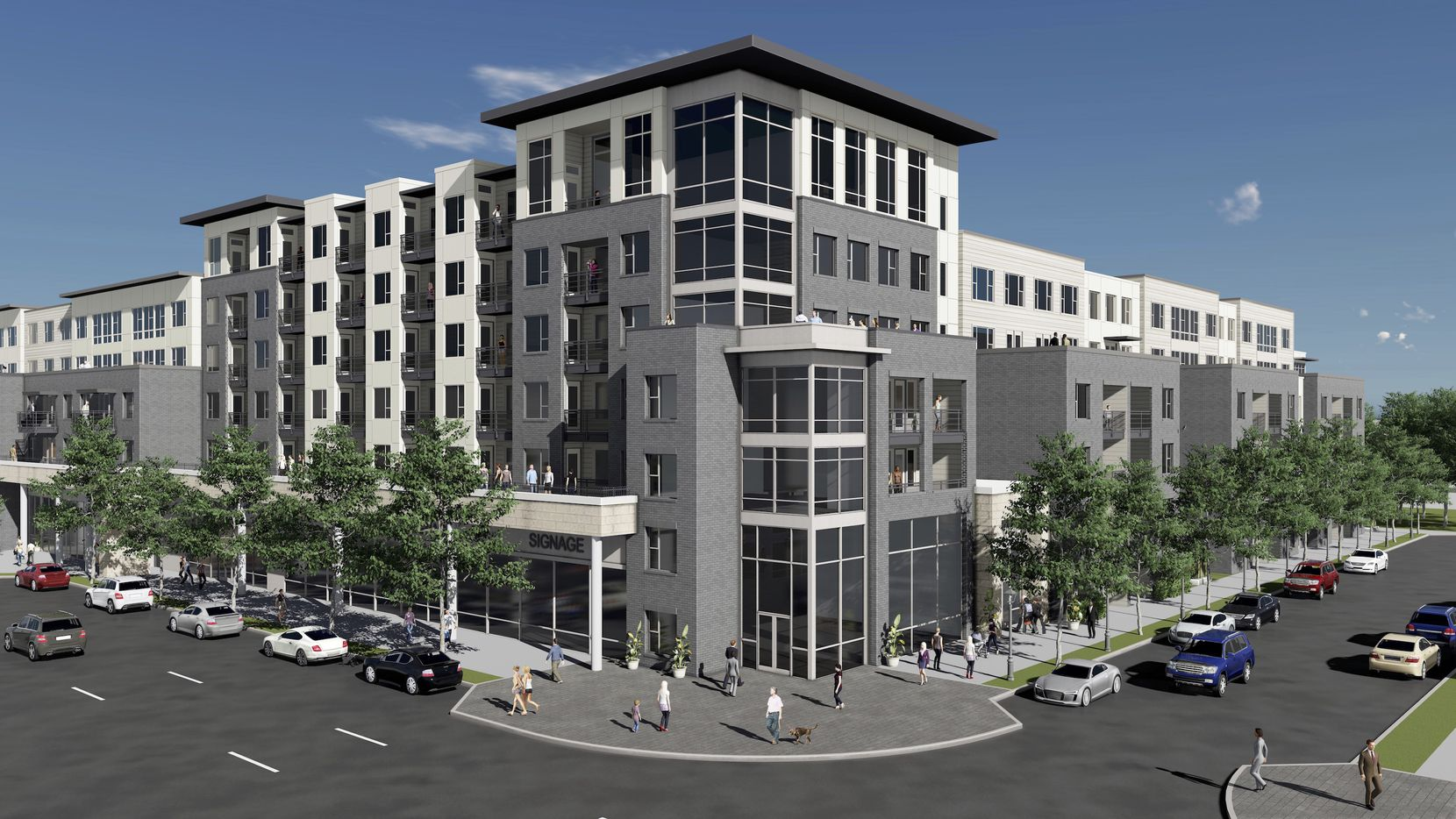 Toll Brothers plans to build about 280 apartments on Commerce Street west of the Trinity River.