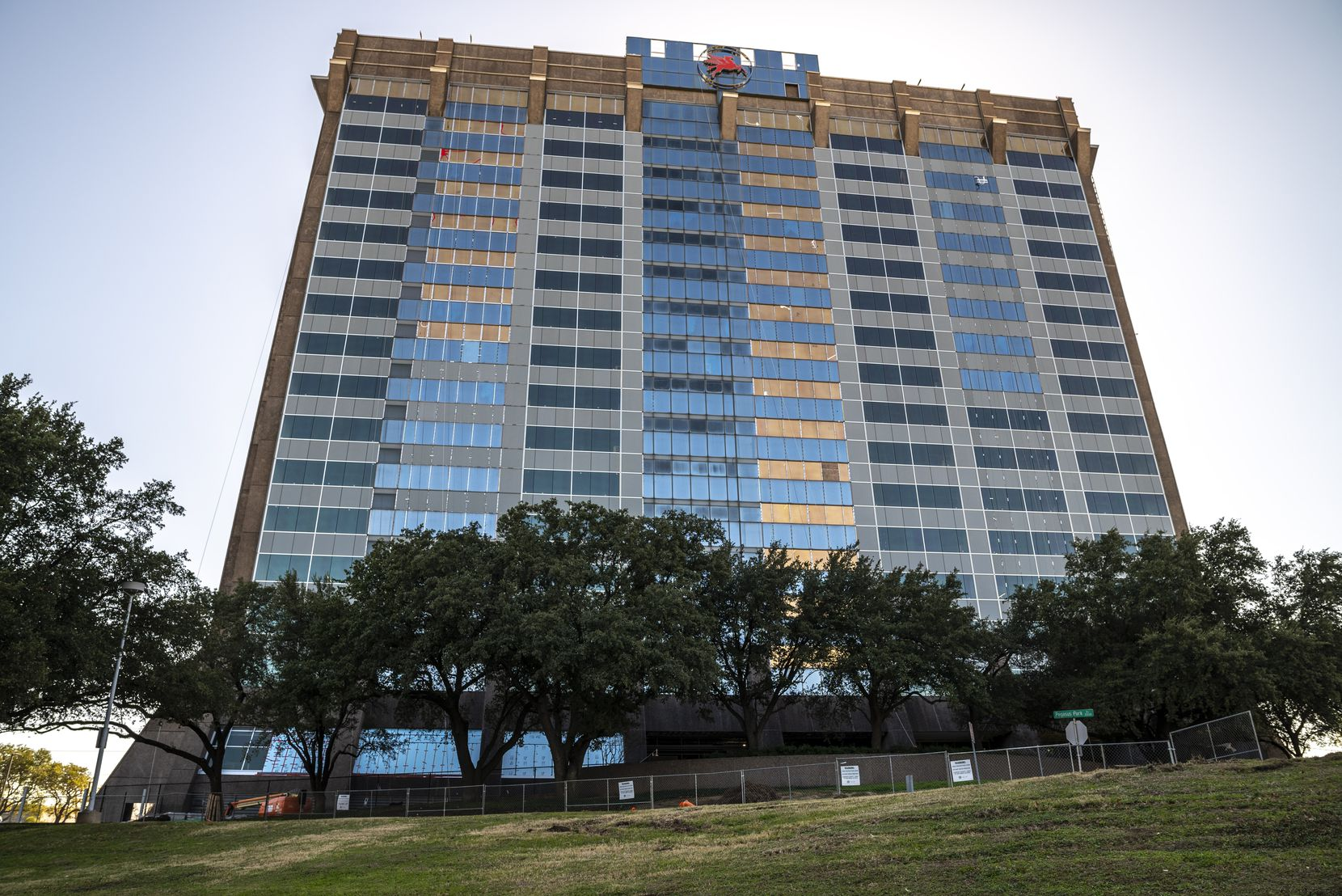 Pegasus Place tower in Dallas is being remodeled into a biotech center.