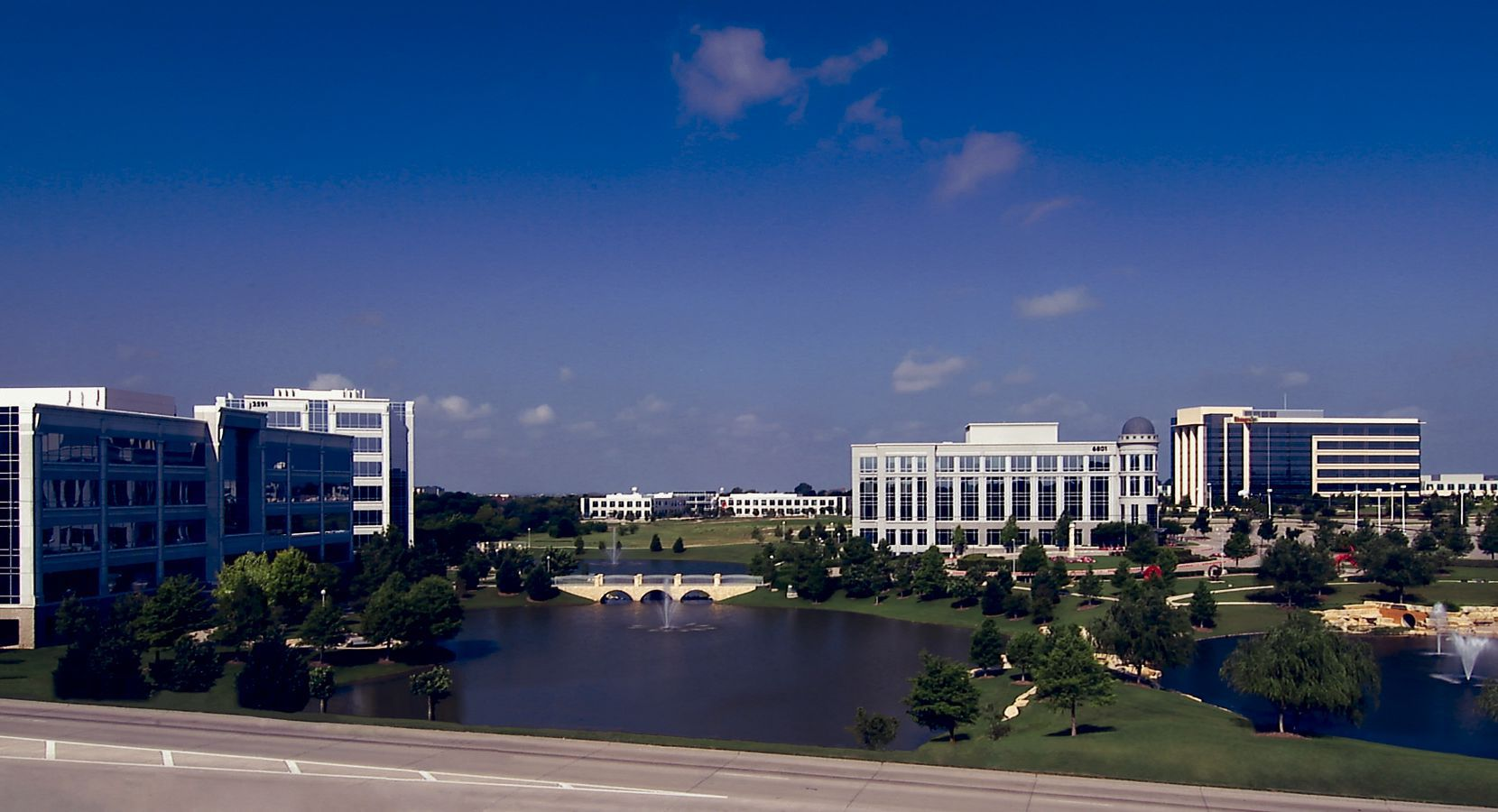 Hall Park is Frisco's largest office development with more than 2 million square feet of buildings.