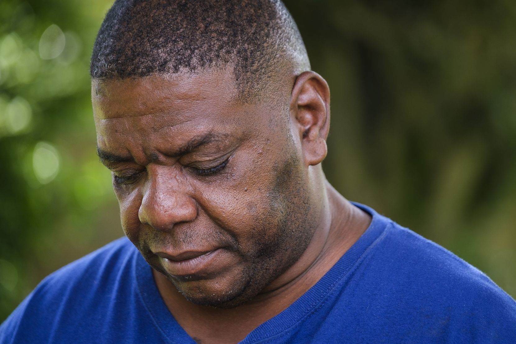 Peirre Booker, photographed during an interview in May. He is the father of Muhlaysia Booker, a transgender woman who was found shot to death May 18, 2019, about a month after she was the victim of a mob attack.