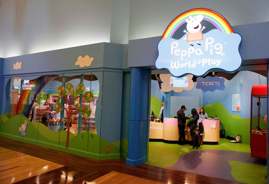 Peppa Pig World of Play at Grapevine Mills in Grapevine. This is the United States' first permanent Peppa Pig exhibit. Peppa is a very popular kids' cartoon.