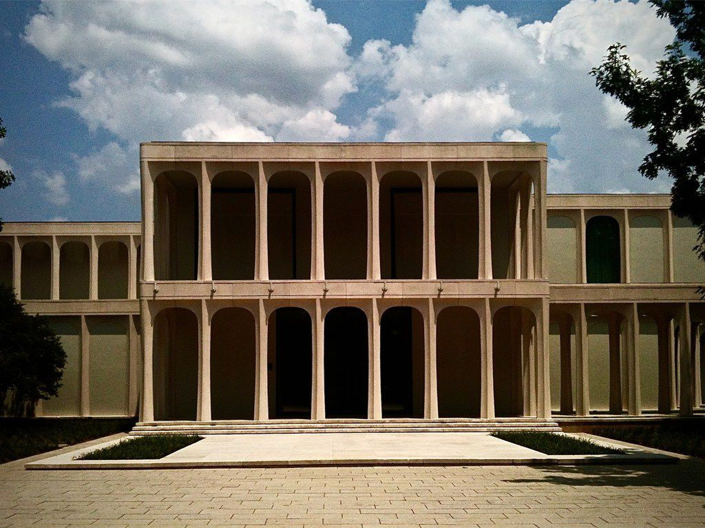 Philip Johnson designed The Beck House at 10210 Strait Lane in Preston Hollow.
