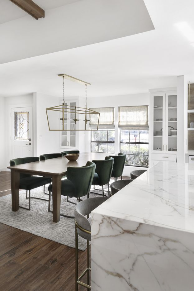 A look at part of the Plano project, an example of the design style of Dallas-based Juliana Oliveira.