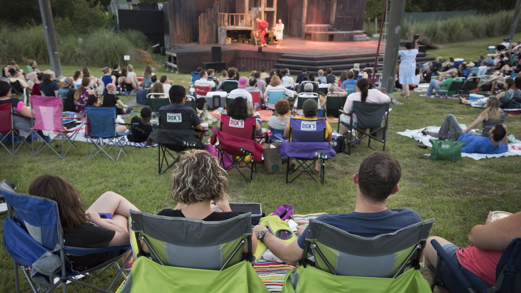 Theatre fans at the Samuell Grand Amphitheater in Dallas, Texas on June 23, 2017.