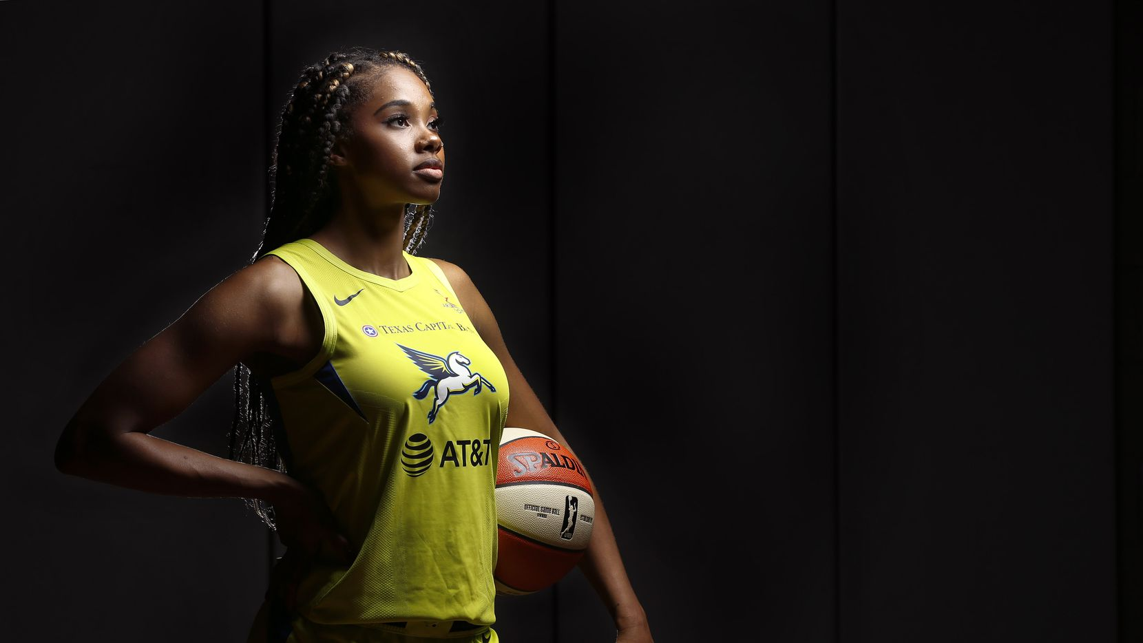 FILE - Dallas Wings guard Tayler Hill poses for a photo during media day at the College Park Center in Arlington on Monday, May 20, 2019.