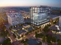 The Quadrangle redevelopment includes a 12-story office building on Howell Street.