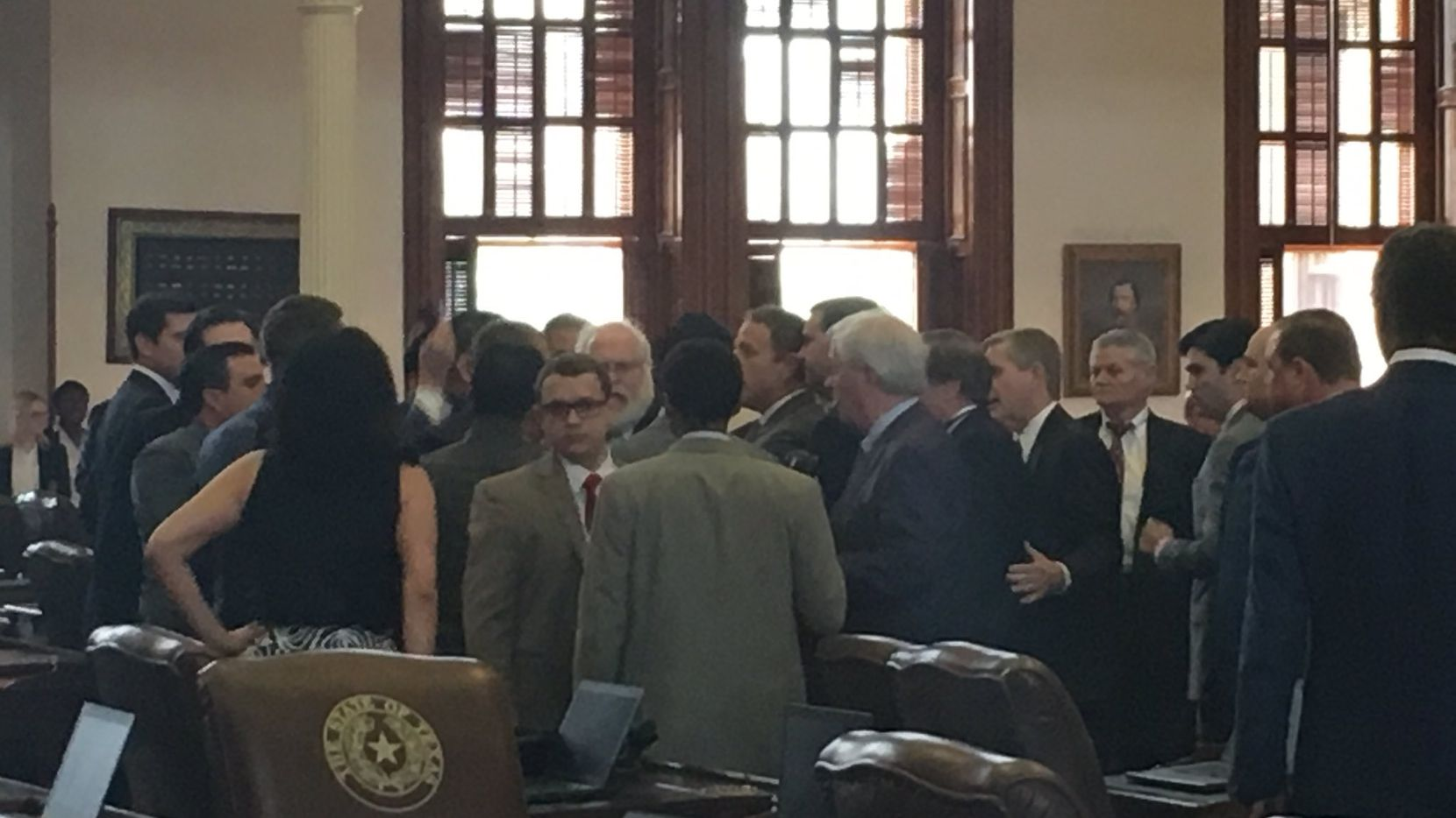 Texas lawmakers got into a scrum on the final day of the legislative session.