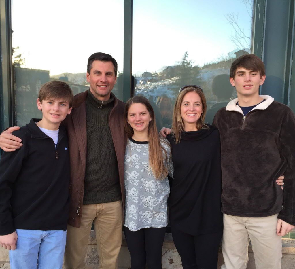 The Dooley family (from left): Peyton, Derek, Julianna, Allison and John Taylor