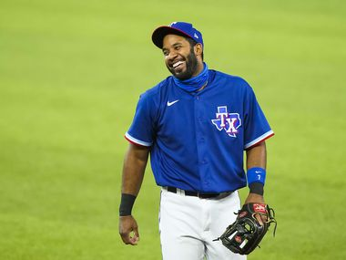 Texas Rangers shortstop Elvis Andrus takes the field for an exhibition game against the Colorado Rockies at Globe Life Field on Tuesday, July 21, 2020.