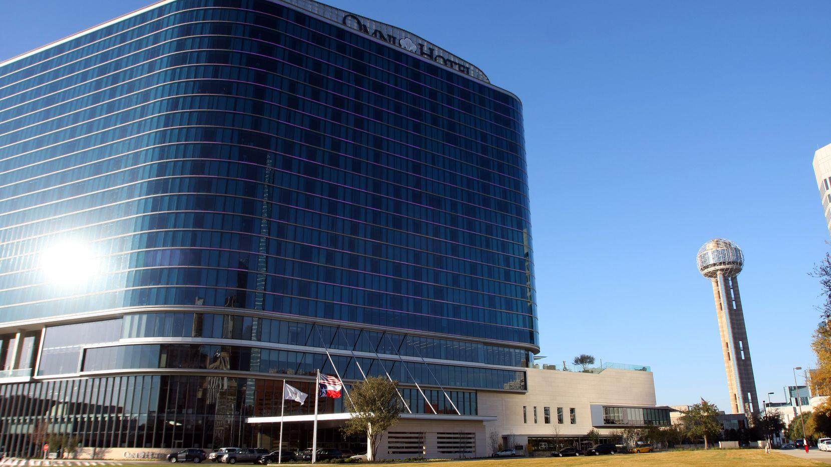 The Omni Dallas Hotel (left)