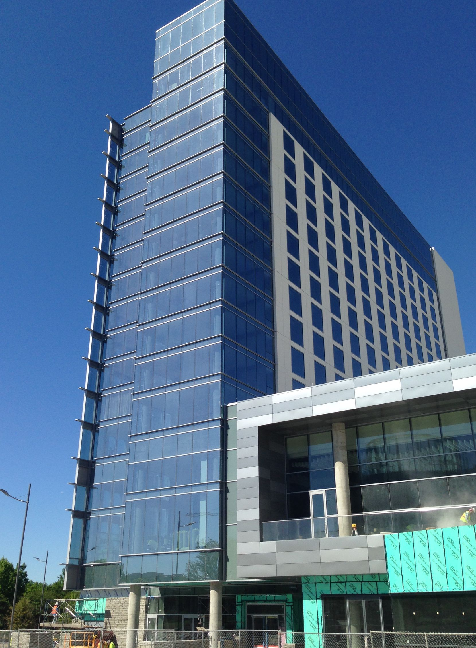 The 15-story Renaissance Hotel in Legacy West opens in June.