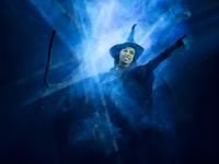 """Talia Suskauer as Elephaba in the North American tour of """"Wicked,"""" which opens at Dallas Summer Musicals in August 2021   the first Broadway touring show to go on the road since the pandemic began."""