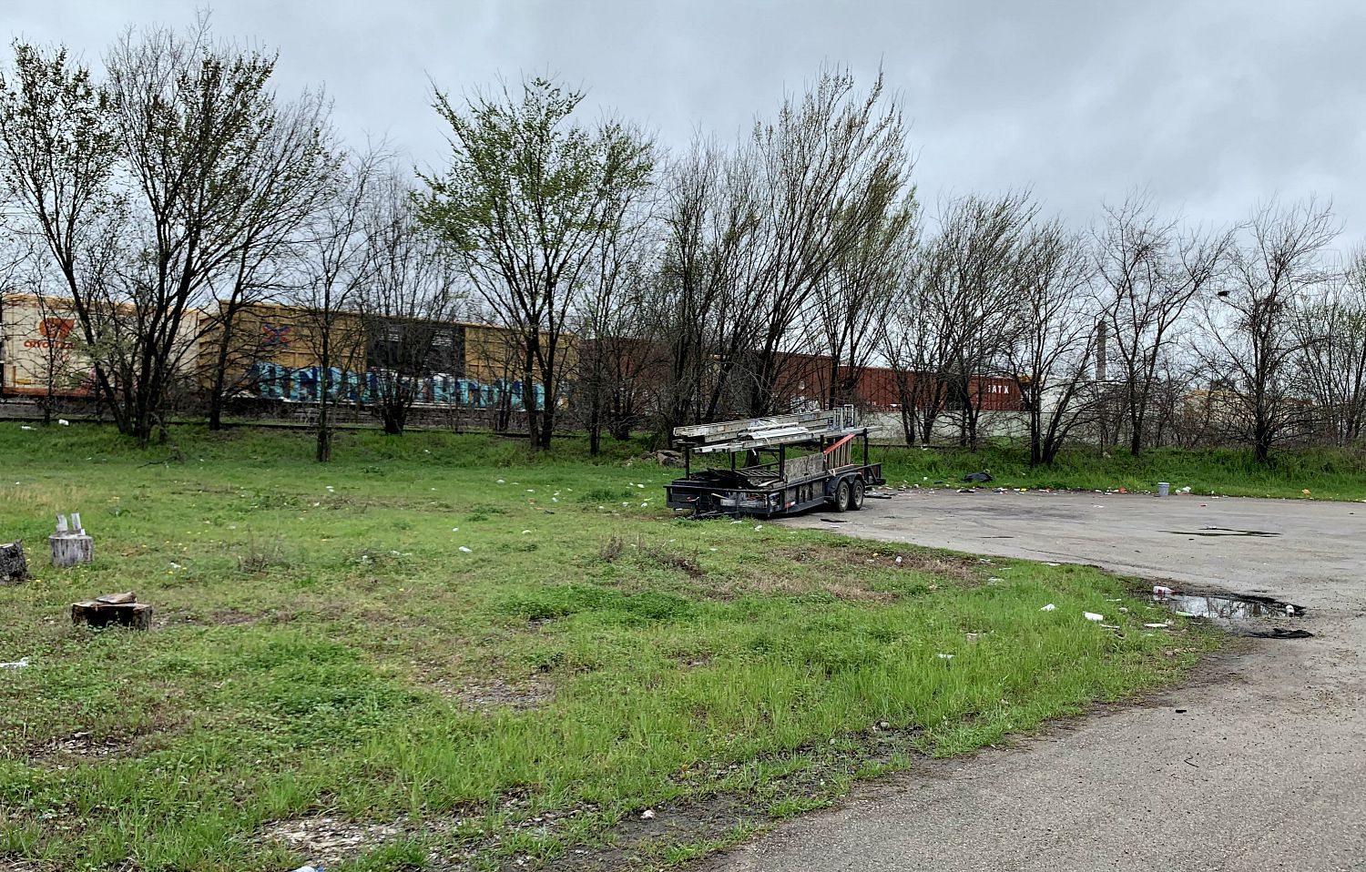 The view from 1906 Bayonne Street in West Dallas