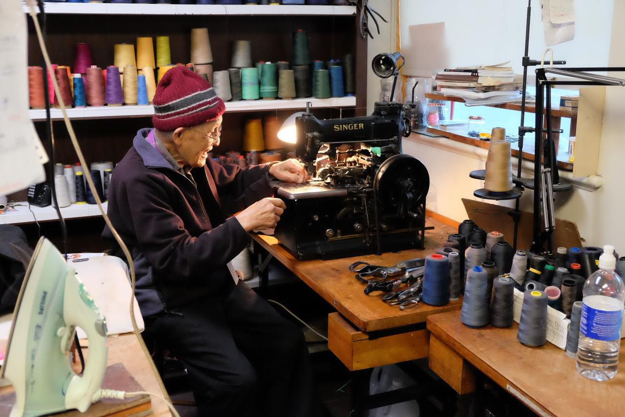 Bill Wong, 93, can still be found at his Pender Street tailor shop nearly every day. His son, who's in his 60s, has apparently had to keep an eye on Dad lest he work too much.