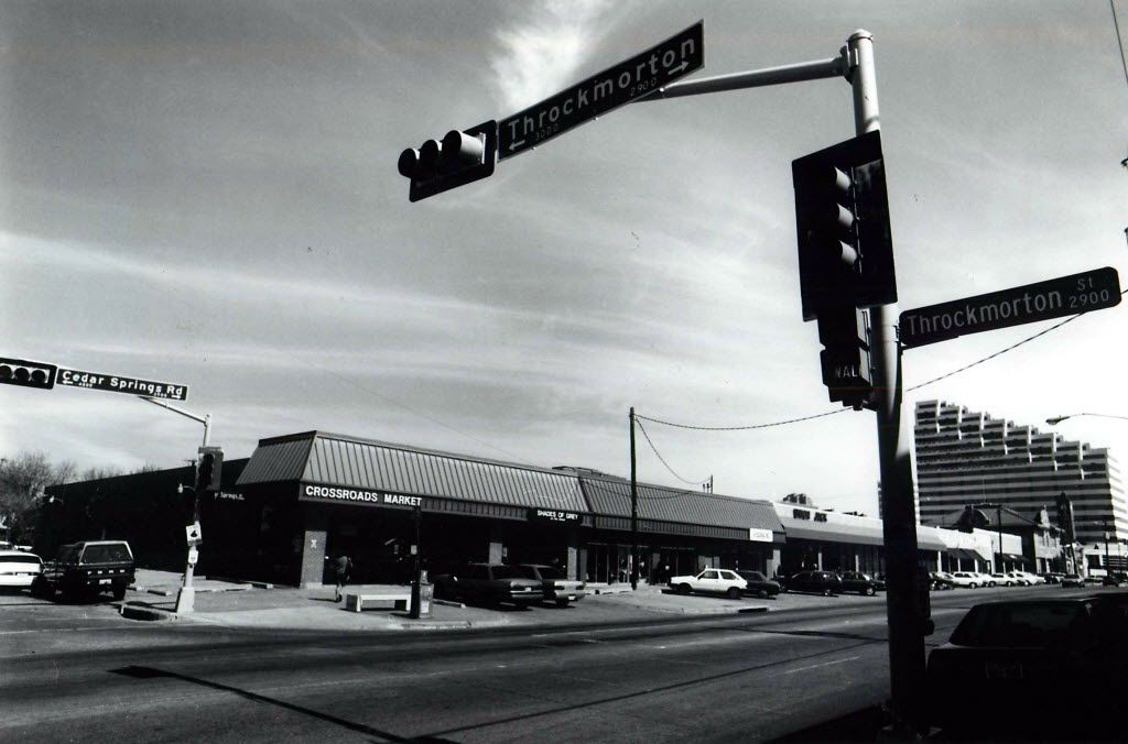 In 1991, when this photo was taken, the crossroads of Dallas' gayborhood was the intersection of Cedar Springs Road and Throckmorton, where Crossroads Market and Union Jack were located.