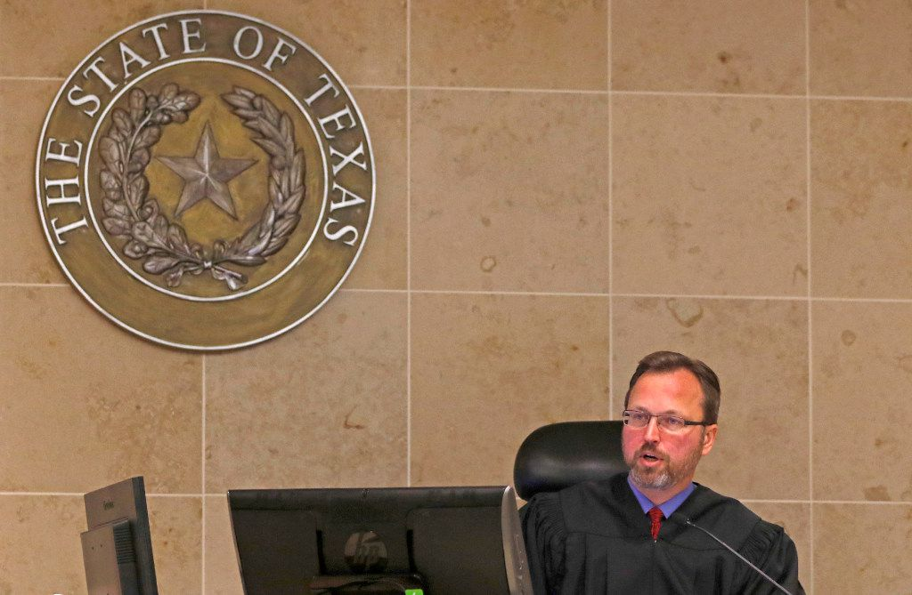 State District Judge Scott Becker, shown here in October 2016, is presiding over the trial of Kenneth Amyx, who is charged with murder in his girlfriend's death last year.