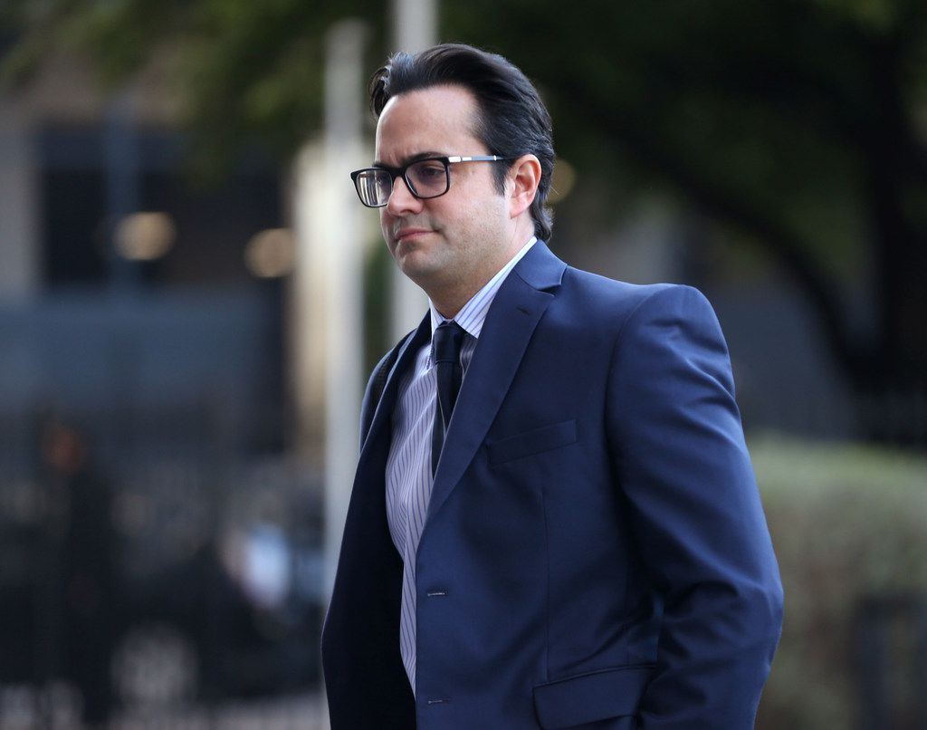 Dr. Michael Rimlawi walked into the Earle Cabell Federal Building in downtown Dallas in April 2019. Rimlawi has been sentenced to federal prison for receiving bribes and kickbacks from Forest Park Medical Center.
