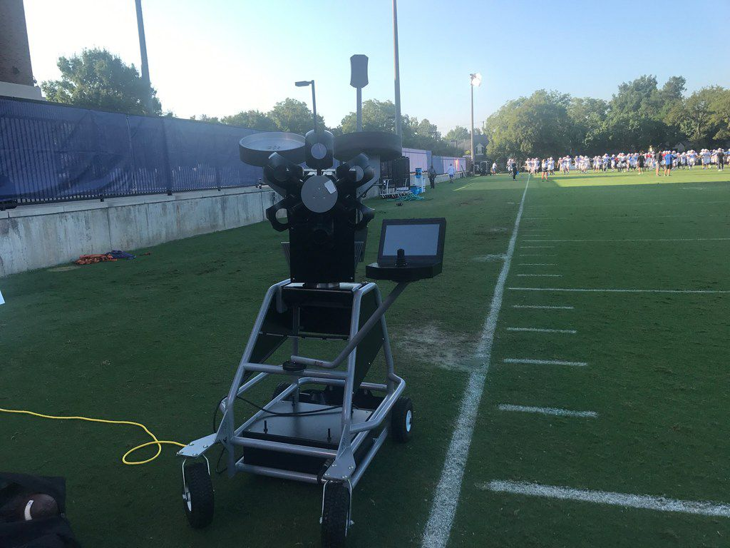 A photo of The Seeker, taken during a recent SMU football practice.