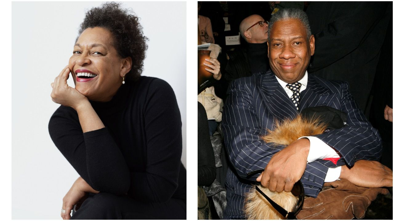 Artist Carrie Mae Weems and former American 'Vogue' editor-at-large André Leon Talley
