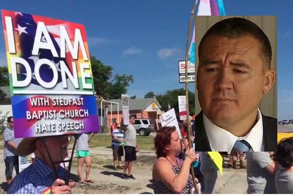 Donnie Romero (recuadro) fue echado como pastor de su iglesia bautista. Romero fue el centro de protestas luego de que elogió la matanza de Orlando en 2016. ARCHIVO DMN