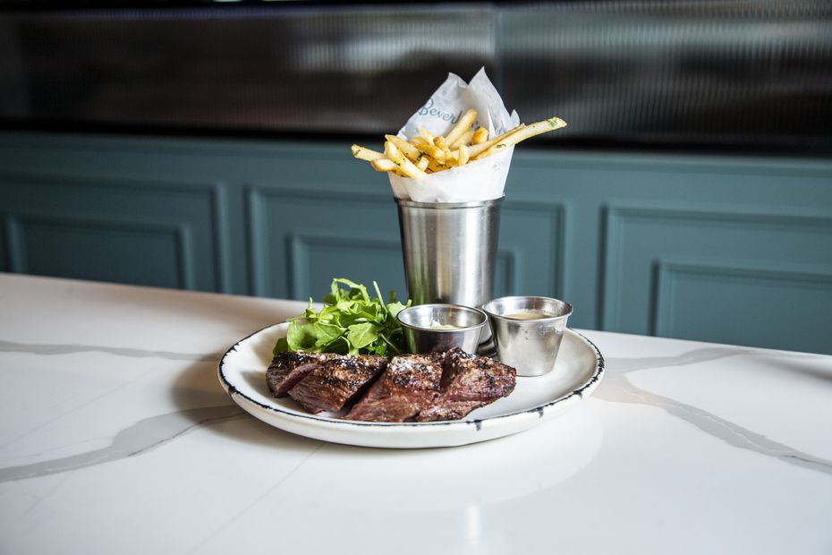 Steak frites are a popular order at Beverley's.