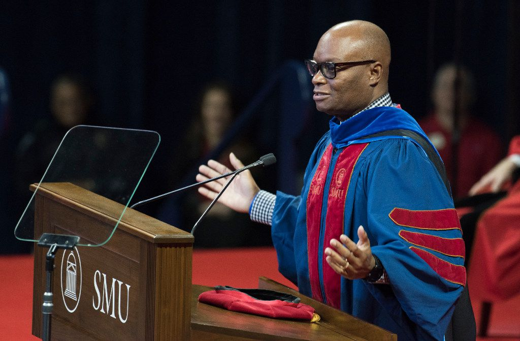 Retired Dallas Police Chief David Brown gives commencement address SMU's December graduates on Saturday, Dec. 17, 2016.