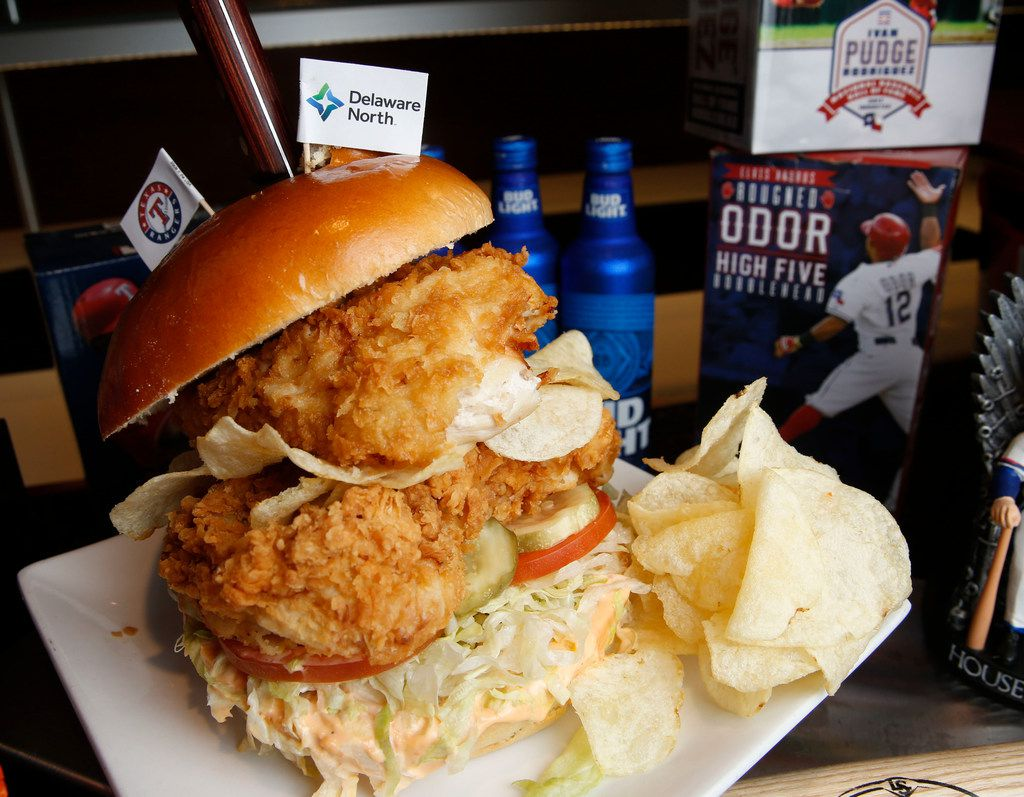 The Lay's home plate chicken sandwich is the best of the new Texas Rangers offerings.