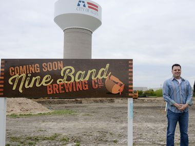 Keith Ashley, owner of Nine-Band Brewing Company in Allen, photographed on April 17, 2014.