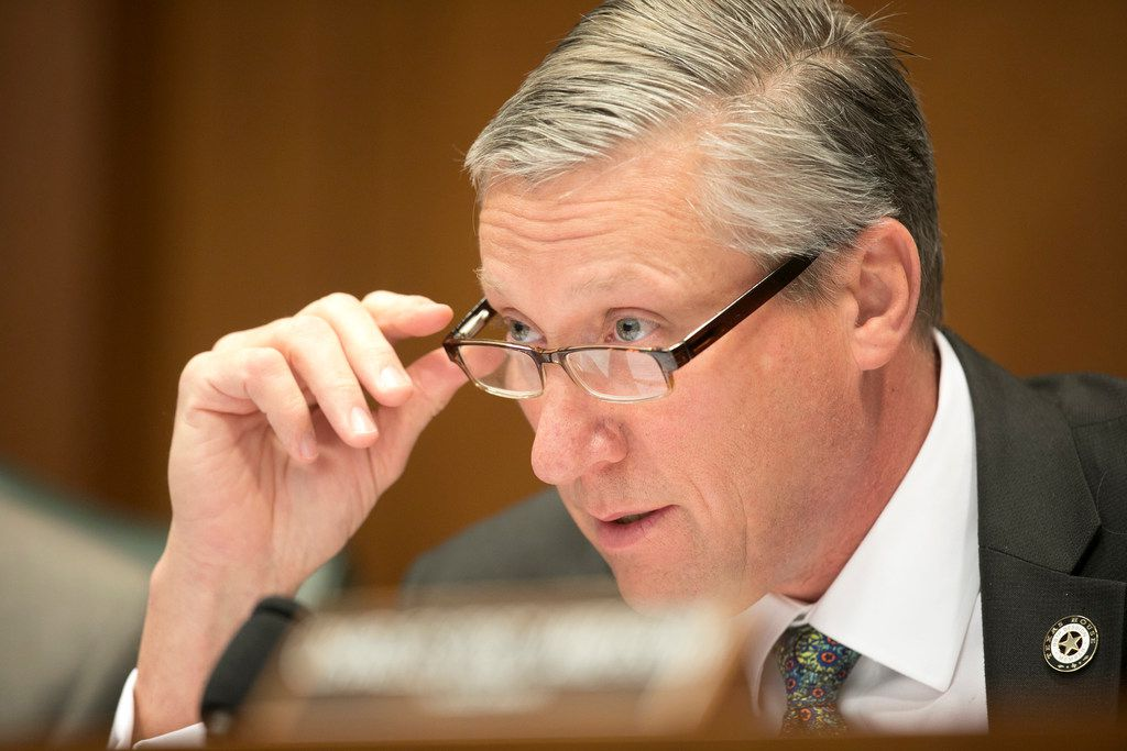 State Rep. Drew Springer, R-Vernon, listens during testimony about House Bill 1325, the Hemp Farming Act, at the House Committee on Agriculture and Livestock at the Capitol on Monday April 1, 2019.  [JAY JANNER/AMERICAN-STATESMAN]