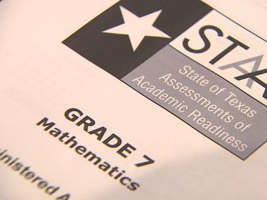 A recent STAAR test booklet for seventh-grade math.