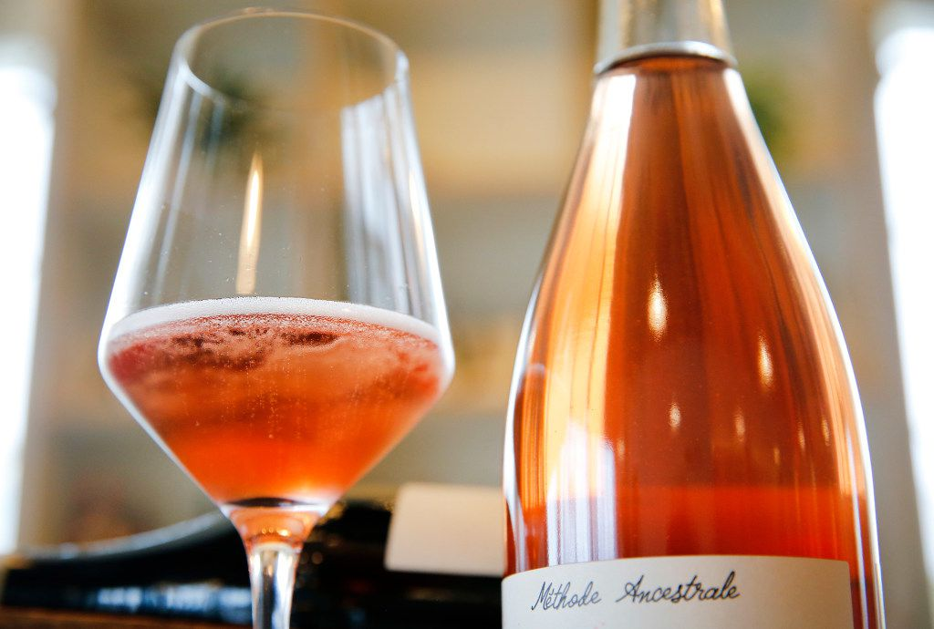 A glass of Les Capriades piege a filles rosé is pictured at Bar and Garden on Ross Avenue.