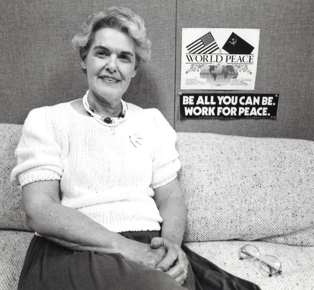 Vivian Castleberry was a driving force behind the International Women's Peace Conference held in Dallas in 1988.
